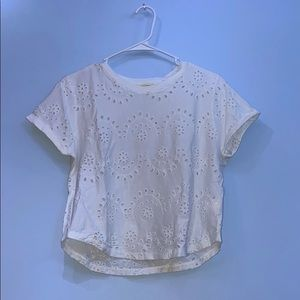 white pacsun tee with pattern